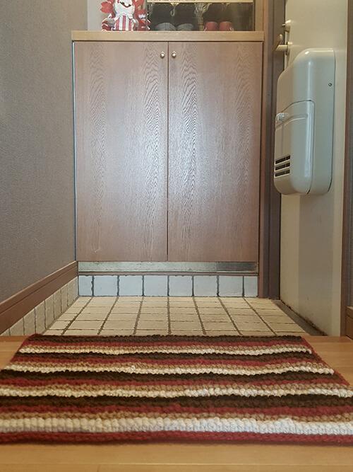 アーチ編みの玄関マット
