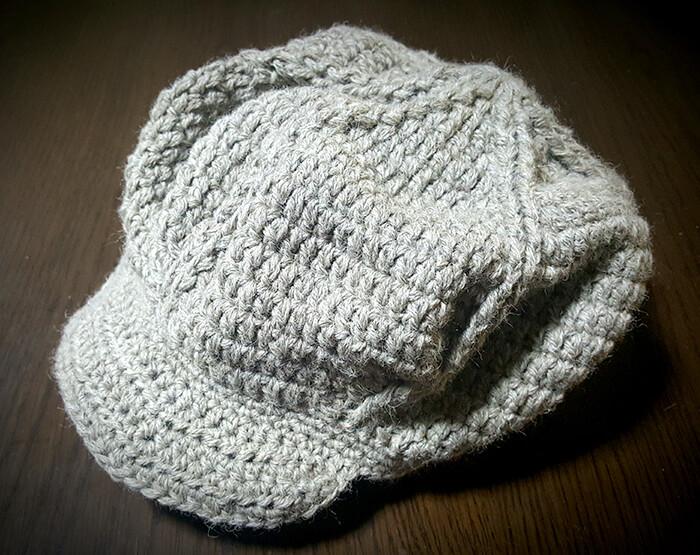 ニットキャスケット帽