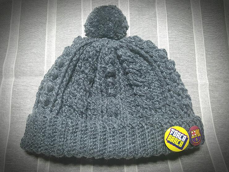 アラン模様のニット帽