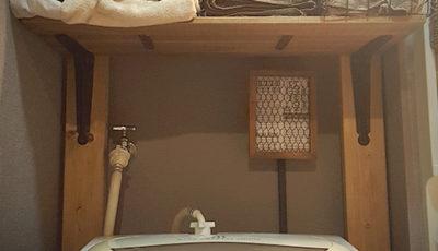 配線隠しと洗面台のプチおめかし