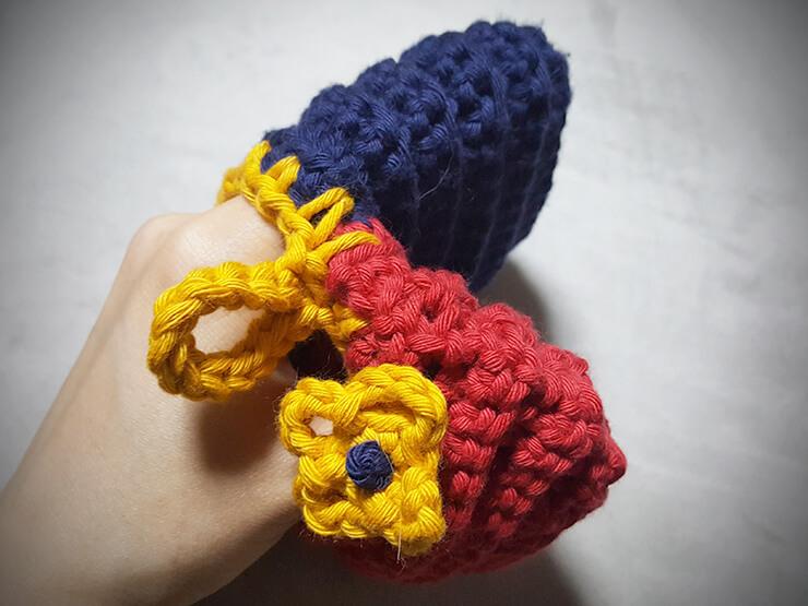 かぎ針編みの鍋つかみ