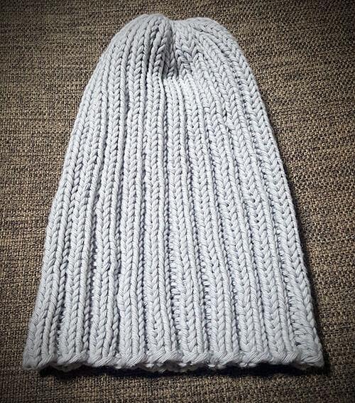 コットンヤーンのニット帽