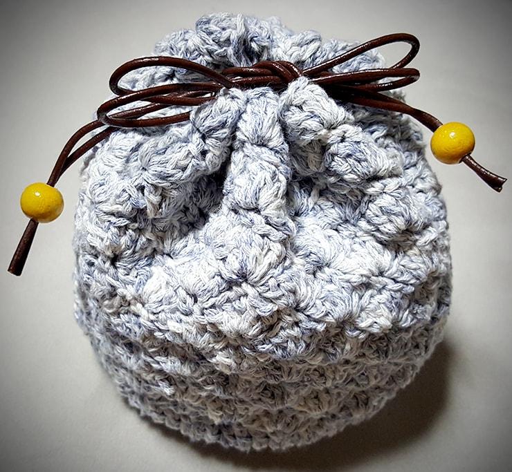 松編みの巾着
