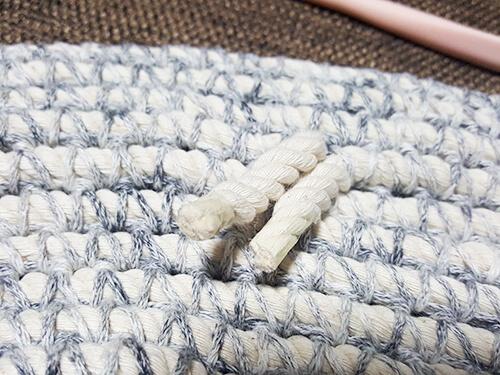 綿ロープの玄関マット