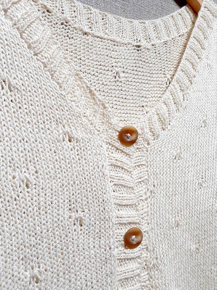 100均毛糸でサマーニット【無料編み図】