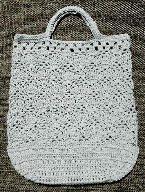 バイラス編みのエコバッグ