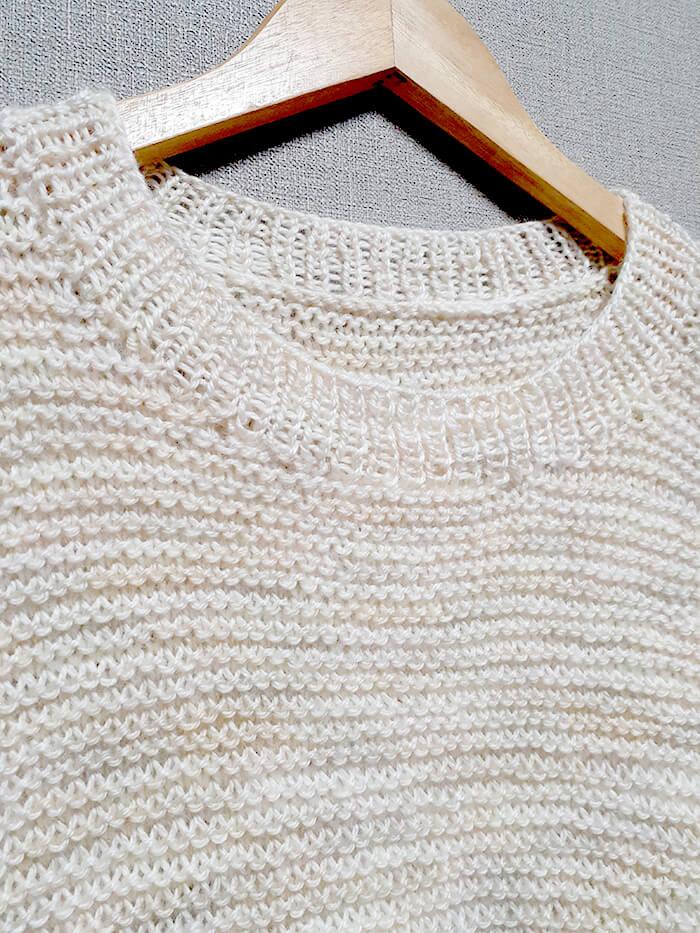 ミックスベリーでガーター編みのセーター