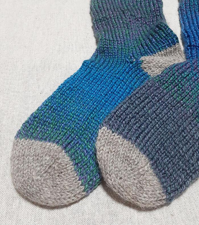 おとなグラデーションの靴下